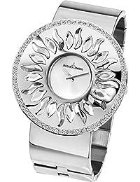 Jacques Lemans Damen-Armbanduhr XL Flora Analog Quarz Edelstahl 1-1700D