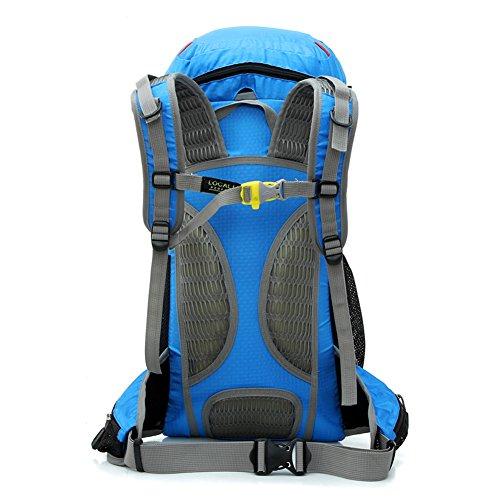 Diamond Candy Zaino da Trekking Outdoor Donna e Uomo con Protezione Impermeabile per alpinismo arrampicata equitazione ad Alta Capacit¨¤ borsa da viaggio,Multifunzione, 35 litri Nero Blu reale