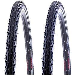"""2 x Fahrradreifen Kenda 28 Zoll 28x1.50 40-622 700x38C mit Reflexstreifen inklusive 2 x 28"""" Schlauch mit Dunlopventil OPS"""