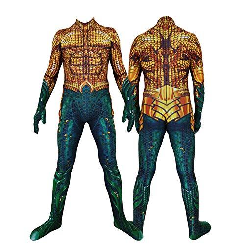 Aquaman Kostüm Kind Erwachsener Cosplay Kostüm Superhelden Halloween Mottoparty Onesies 3D Druck Strumpfhosen,Women-XL