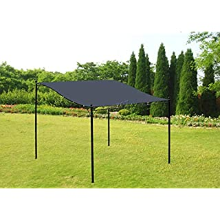 WestWood Metal Wall Mounted Gazebo Awning Patio Garden Outdoor Marquee Shelter Pergola Canopy Door Porch 3M X 2.5M Grey