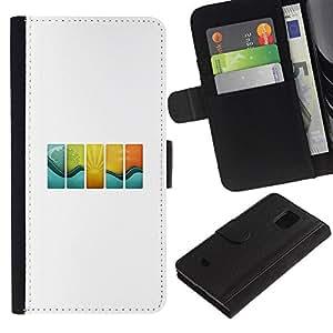 JackGot ( Vague Tuiles ) Samsung Galaxy S5 Mini (Not S5), SM-G800 Credit Card Slots PU Wallet Pouch Housse de protection Skin Cas Case Coque