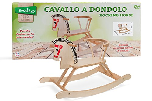 Globo Toys 37021, jouet en bois Legnoland, cheval à bascule 80cm x...