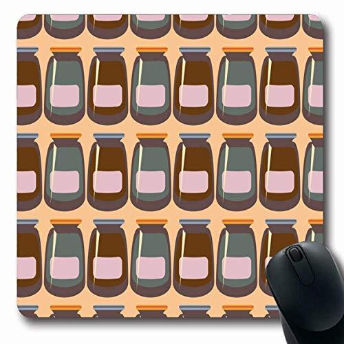 Luancrop Mousepads Canning Bohemian Jars Rustikale New Aroma Girlishness Frühstück Bung Dose Canvas Compound Design Obst rutschfeste Gaming Mouse Pad Gummi-Matte