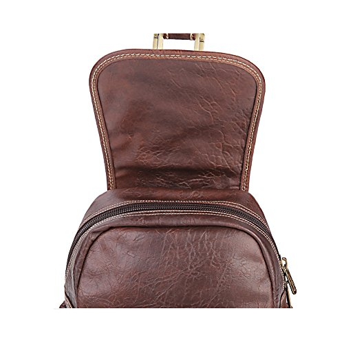 Lycailcy  LYC-Lycailcy-A09-20, Sac à main porté au dos pour femme Marron Magnetic Snap Light Brown(9.4 x 4.3 x 11 inches) Small(9.4 x 4.3 x 11 inches) Magnetic Snap Dark Brown(9.4 x 4.3 x 11 inches)