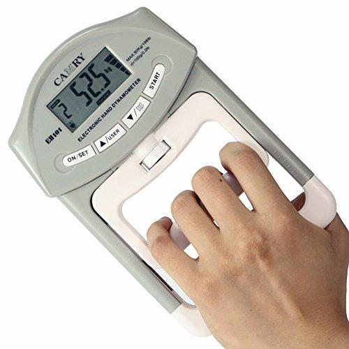 Foto de Camry electrónica dinamómetro la fuerza de agarre de la mano del medidor 90 kg / 200 lbs Margen de capacidad