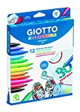 Giotto 494900 - Pack de 12 rotuladores decorativos para tejidos