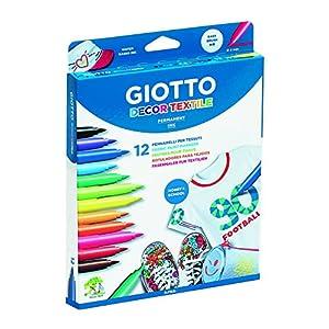 Giotto 494900 – Pack de 12 rotuladores decorativos para tejidos