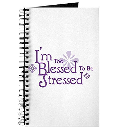 CafePress – I 'm Too Blessed to be stresse – Spiralbindung Journal Notebook, persönliches Tagebuch, Dot Grid