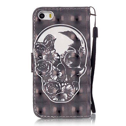 Meet de (Campanula) Colorful 3D Design Folio Case pour Apple iphone 6 Plus / iphone 6S Plus ,Wallet flip étui en cuir / Pouch / Case / Holster / Wallet / Case pour Apple iphone 6 Plus / iphone 6S Plus Skull Flower