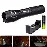 Taschenlampe,COLORFUL_ Zoomable 3500 Lumen 5 Modi CREE XML T6 LED Taschenlampe Lampe mit 18650 + Ladegerät