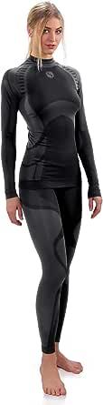 Sesto Senso Donna Intimo Termico Impostato Maglia a Maniche Lunghe T-Shirt Funzionale e Pantaloni Lunghi Leggings