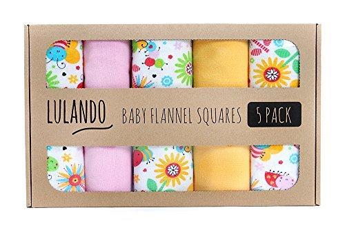 Preisvergleich Produktbild LULANDO Stoffwindeln und Moltontücher 70x80cm (5er Set). Waschbare Windeln und Spucktücher für Ihr Baby, Farbe: bunte Bienen
