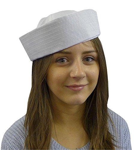 DangerousFXDamen Pork Pie-Hut, Einfarbig Weiß Weiß