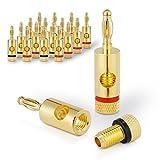 Sentivus 16x Bananenstecker 24k vergoldet - für alle Lautsprecherkabel bis