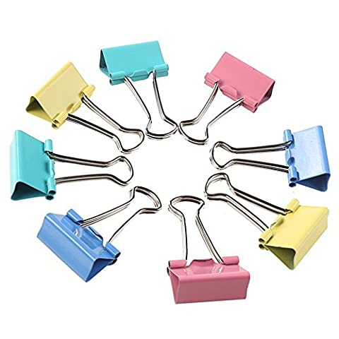 Beauty360 51mm Clip Foldback Paper Binder Clips Elastic and Strong Pack of 12 in Box