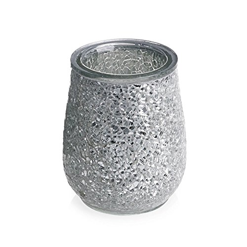 Home Treats Silver mosaic bathroom tumbler