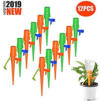 Garden Watering Spikes Set of 6 Watering Stakes Perfect for Vacation Plant Flower Self Irrigation Watering System NewPointer Terracotta Plant Watering Spikes Vacation Plant Waterer