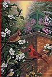Toland Home Garden Cardinals at The Gate Dekovögel/Blumenfahne House-Large-28x40-Inch