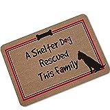 Gnzoe Gummi Teppich Hund Katze Welcome Muster Design Teppiche für Wohnzimmer Schlafzimmer Braun 60x40CM