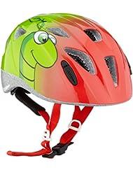 Alpina Niños Cilindro de casco ximo, primavera/verano, infantil, color Little Worm, tamaño 45-49