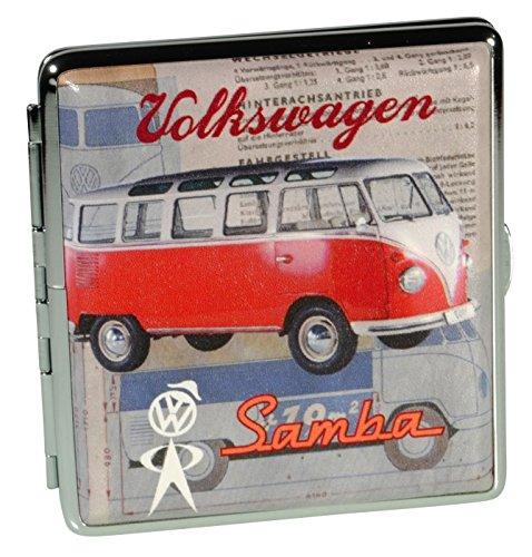Immerschön Zigaretten-Etui VW Samba rot für 18-20 Zigaretten