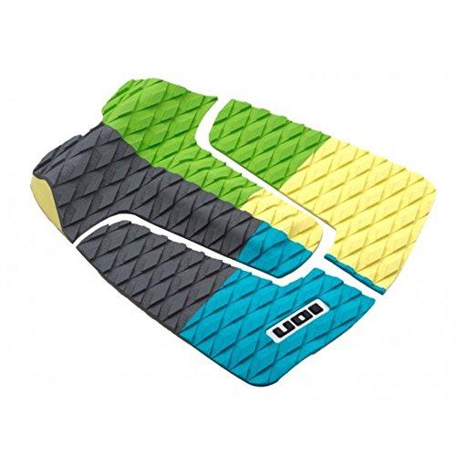 ION Footpad Deck Grip 3-tlg Blau/Gelb/Grün Surfboard Wellenreiter Kiteboard Pad