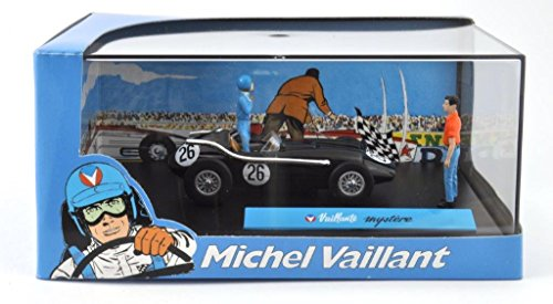 DieCast Metall Miniaturmodelle Modellauto 1:43 Michel Vaillant Comic Collection Vaillante mystere Altaya inklusive Figuren und Kunststoff Vitrine