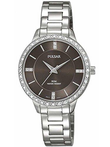 Pulsar Ladies Stainless Steel Stone Set Bracelet Watch