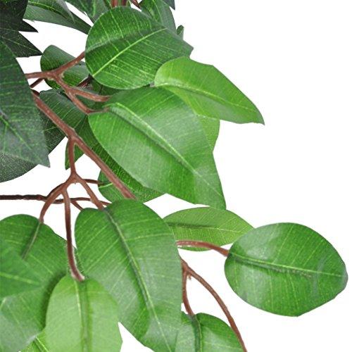 Anself Kunstpflanze Zimmerpalme Künstliche Ficus mit Topf 110 cm