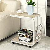 GUI Moderner Minimalistischer Couchtisch, Schlafzimmertisch, Mobiler Nachttisch, Mini-Sofa-Schrank Im Wohnzimmer/Teetisch/Mobiler Schreibtisch/Laptoptisch,C,Einheitsgröße