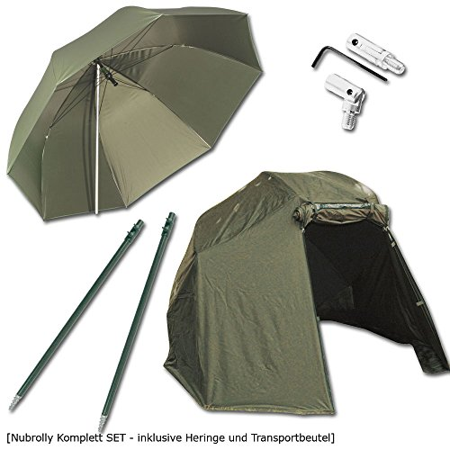 BAT-Tackle Nubrolly Angelschirm Komplett Set inklusive Überwurf