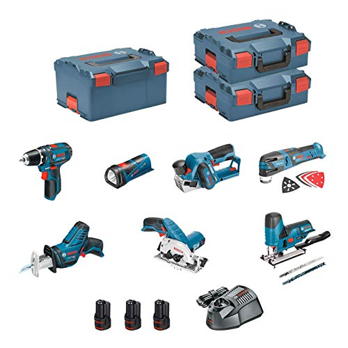 BOSCH Kit 12V BMK7-28FD3 (GSR 12V-15+GKS 12V-26+GST 12V-70+GOP 12V-28+GSA 12V-14+GLI 12V-80+GHO 12V-20+3 x 2,0Ah+GAL1230CV)