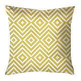Nnice - Outdoor-Kissen, Kissen, Dekokissen - grafisches Muster - Gelb - 45 x 45 cm - mit Füllung - Wetterfest, UV-Beständig, Wasserabweisend