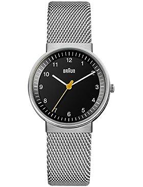 Braun Unisex-Armbanduhr BN0031BKSLMHG