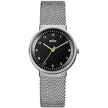 Braun BN0031BKSLMHL - Reloj análogico de cuarzo con correa de acero inoxidable para mujer, color