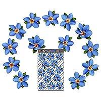 JAS Stickers® FLOWER Frangipani Car Sticker - Blue - Plumeria Singles Large Vinyl Decal Pack For Laptop Luggage Bicycle Bike Caravans Van Camper Trucks & Boats - ST00074BL_3