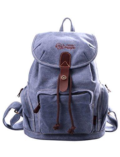 DGY la mochila Bolsos mujer Bolsa de Viaje Mochilas Tipo Casual Mochilas escolares117 Gris Azul