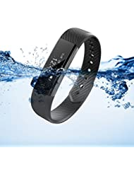 XCSOURCE® Oled Smart Armband Bluetooth 4.0 Schrittzähler Tracking Kalorien Gesundheit Wristband Sleep Monitor Schwarz AC656