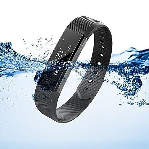XCSOURCE Fitness Tracker Smart Bracelet Etanche Tracker d'activité OLED Intelligent Bluetooth wristband Montre Sport Calorie Montre Calories Dépensées Sommeil Smartwatch ArmBand Noir AC656