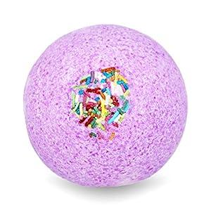 BIG Fizzy Bath Bomb Pink Unicorn – Riesen-Badekugel (240 g / 8.5 oz) | süsser Beerenduft, Zuckerstreusel