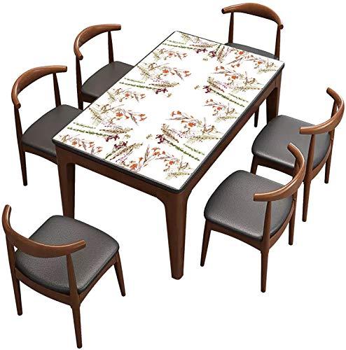 QWEASDZX Tischdecke Ländlicher Stil Baumwolle und Leinen Digitaldruck Ölbeständiges Antifouling Rechteckige Tischdecke Geeignet für Innen und Außen Mehrzweck-Tischdecke 135x135cm