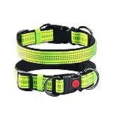 ABIsedrin Weiche Halsband Reflektierend mit Verstellbarem Neopren Padded-Pets Halsbänder für Kleine/Mittlere/Große Hunde