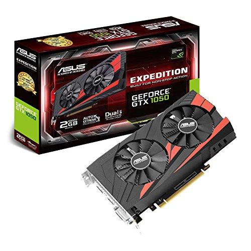 Asus EX-GTX1050-2G Nvidia GeForce Grafikkarte (PCIe 3.0, 2GB DDR5 Speicher, HDMI, DVI, DisplayPort)