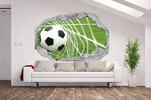 AM Wohnideen Papel Pintado Fotográfico/Póster XXL/3d Pared Illusion/Agujero en la Pared * Portería de fútbol/fútbol/*