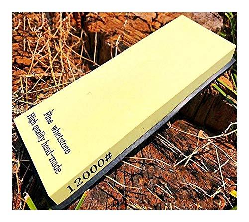 QTCWRL Wetzstein Einseitiger Schleifsteinsatz Mit Körnung 12000 Und Rutschfester Unterlage For Schleifstein For Die Holzbearbeitung In Der Küche (Größe: 180 * 60 * 14 Mm)