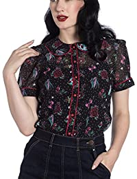 Ripleys Clothing Hell Bunny Shirt Top Black Tattoo Stevie Blouse Rose Cherry Swallow All Sizes