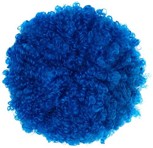 Parrucca Ricciolona blu riccia clown