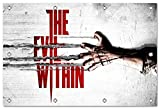 the evil within 2014 game Format: 150x100 cm Bild auf PVC-Plane/Banner, Hochwertiger XXL Kunstdruck als Wandbild inkl. Ösen!!