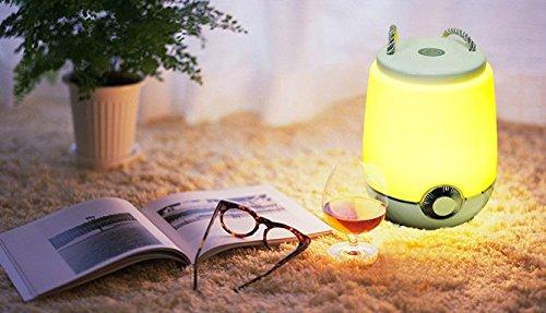LED Lampe, IVSO LED Schreibtischlampen 5 Farbtemperatur Modus LED Lampe, USB, Freisprecheinrichtung mit Bluetooth Lautsprecher Bluetooth Speaker, für Familie Büro Tragbaren Orte, Weiß